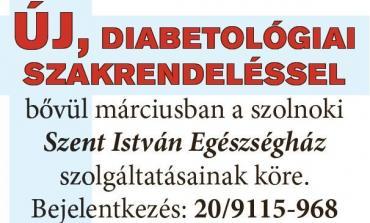 új diabetológia szakrendelés