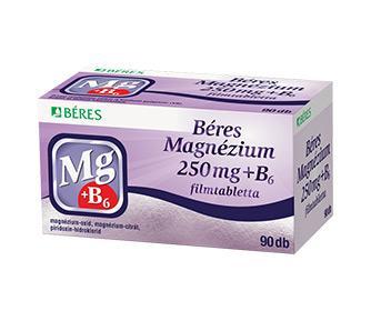 Béres Magnézium 250 mg + B6 filmtabletta